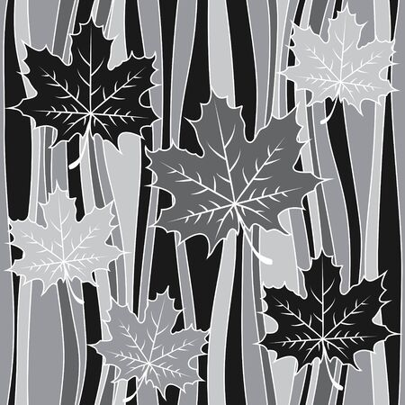 printed material: Vector seamless pattern. Stylized leaves on background. Interior Design wallpaper. Can be used for various printed material, wallpaper, linoleum, surface textures, wrapping paper, web page background.