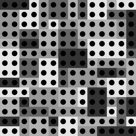 abstract paneling pattern rectangles with black dots interior
