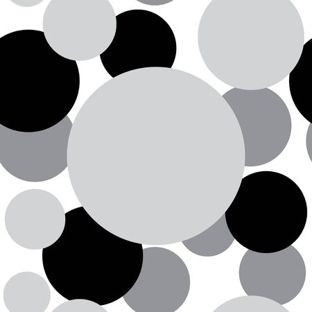 composite material: Abstract decorative circles. Abstract decorative wallpaper. Black and white version. Vector seamless patterns. Modern graphic design.