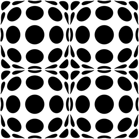 Abstract decorative polka dots and stains. Abstract decorative wallpaper. Black and white version. Vector seamless patterns. Interior wall panel pattern. Illusztráció
