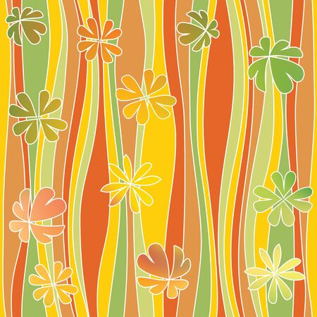 flowery: Seamless abstract flowery pattern, waves. Decorative paneling pattern.