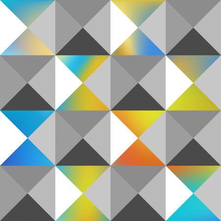 pyramidal: Decorative pyramidal pattern. Triangles stylish background. Interior wall panel pattern. Vector seamless pattern.