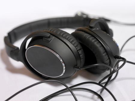 Stylish Hi-Fi headphones. Close-up view.