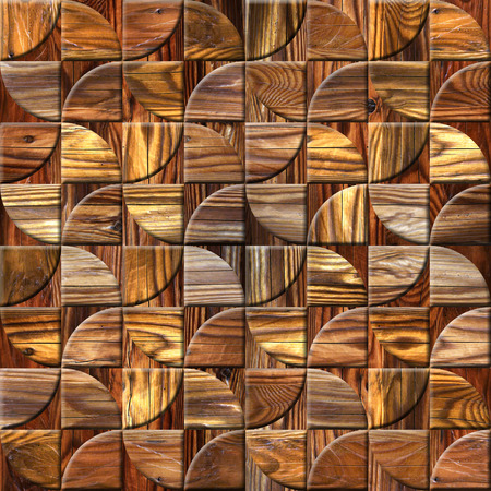 Abstract paneling pattern - Interior wall decor - decorative tiles - geometric style - seamless background - different colors - wood surface - repeating texture Reklamní fotografie