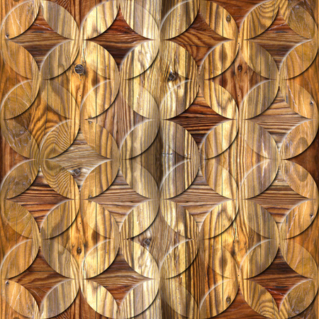 Interior Design wallpaper - paneling pattern - abstract decoration material - oriental decor - seamless background - wood texture Stock Photo
