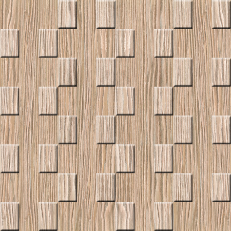 wall decorative tiles - Decorative paneling pattern - Interior Design wallpaper - Abstract checkered pattern - continuous replication - seamless background - Blasted Oak Groove wood texture