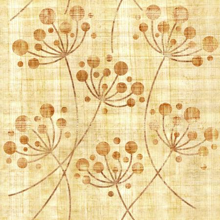 Dientes de león flor - fondo de pantalla interior - fondo transparente - textura de papiro