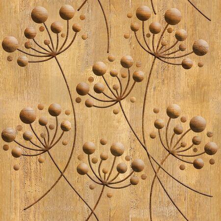 Dientes de león flor - fondo de pantalla interior - fondo transparente - estructura de madera