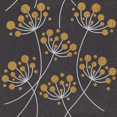 Flor abstracta Dientes de león - Fondo de pantalla interior - Fondo transparente - Textura de cuero Foto de archivo