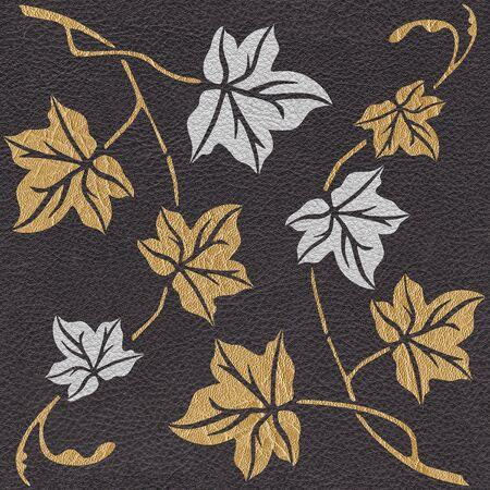 Hojas de otoño abstractas - fondo de pantalla interior - fondo transparente - estructura de cuero