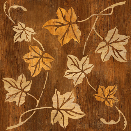 Hojas de otoño abstractas - fondo transparente - Fondo de pantalla interior - textura de madera