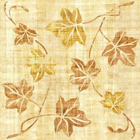 Hojas de árbol decorativo - fondo transparente - Fondo de pantalla interior - textura de papiro