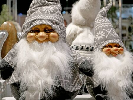 Santa claus, Grandpa Frost or Weihnachtsmann? Decorative background for Christmas celebrations.