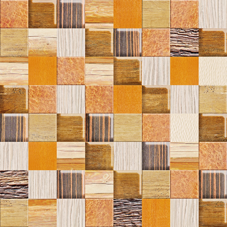 checkered pattern - different colors - wooden background