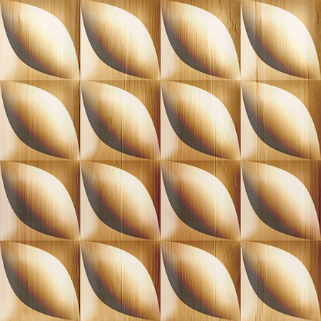 Abstract bean pattern - seamless background - wooden texture