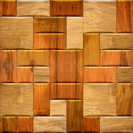 Wooden wallpaper decorative wall - seamless background texture - repeating geometric tiles