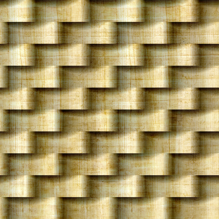 Abstract pattern with linear waves - seamless background - papyrus texture