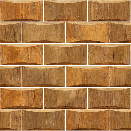 Decorative wooden bricks - Interior wall decoration - Abstract paneling pattern - seamless background - different shades - Continuous replication Zdjęcie Seryjne - 106478026