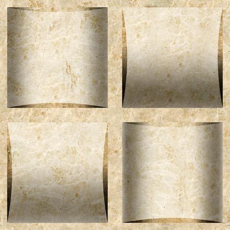 Decorative cassette tiles - seamless background - cassette floor - marble surface