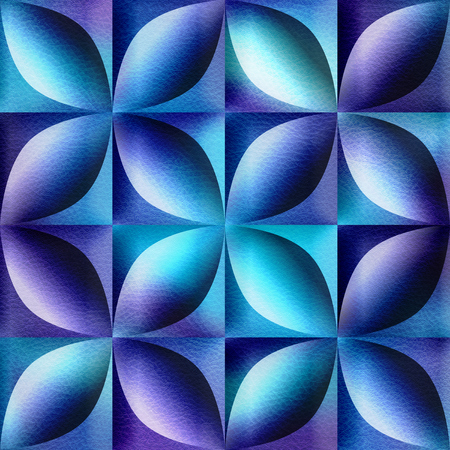 Abstract decorative tiles stacked for seamless background - decoration material - bluish surface