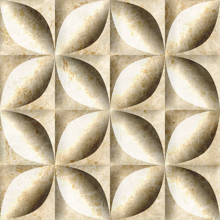 Abstract decorative tiles stacked for seamless background - decoration material - marble surface