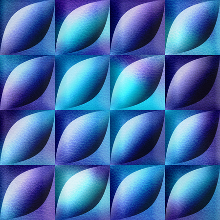 Abstract decorative tiles - seamless background - bluish surface Stock Photo