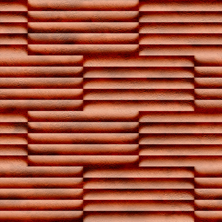 Abstract decorative paneling - seamless background - red brick coloring