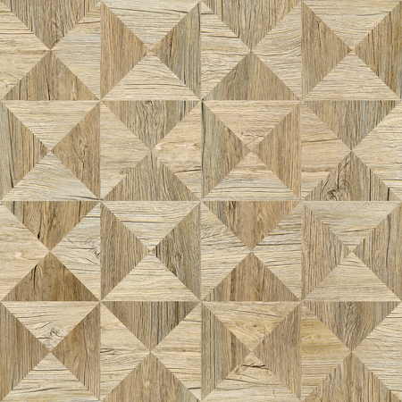 Decorative pyramids stacked for seamless background - coffered paneling - wood texture Zdjęcie Seryjne