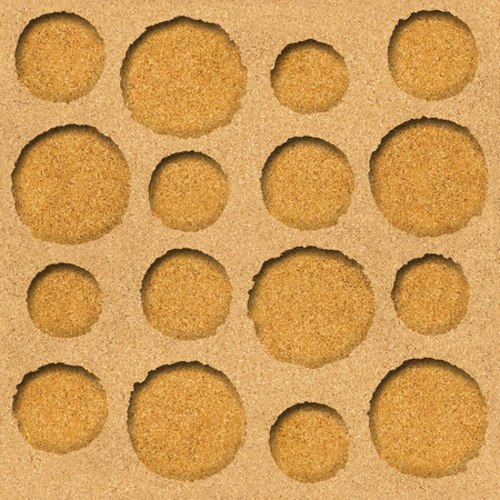 Rounded abstract decorative blocks - Interior Design wallpaper, Circular style - seamless background, Natural structure - texture cork