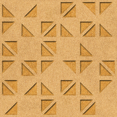Decorative triangular pattern - Interior wall decoration, Patterned wrapping paper - Repeating background, Natural structure - texture cork