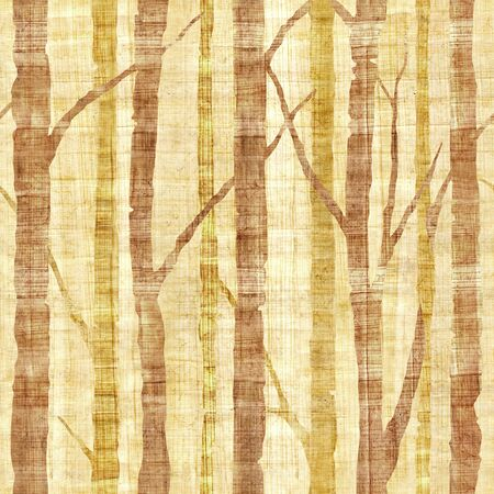 Forest with trees - Pattern of the decorative background - Interior wallpaper - papyrus texture - seamless background