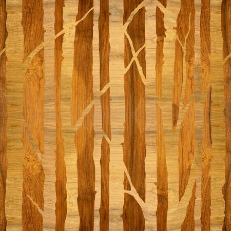 Row of trees - Interior wallpaper - seamless background - wood texture 스톡 콘텐츠