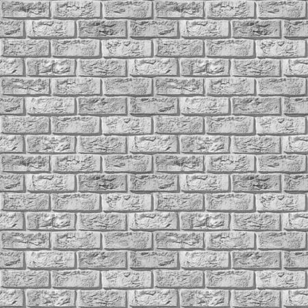 Vintage white brick wall - seamless background - rustic appearance - wallpaper texture - continuous replication
