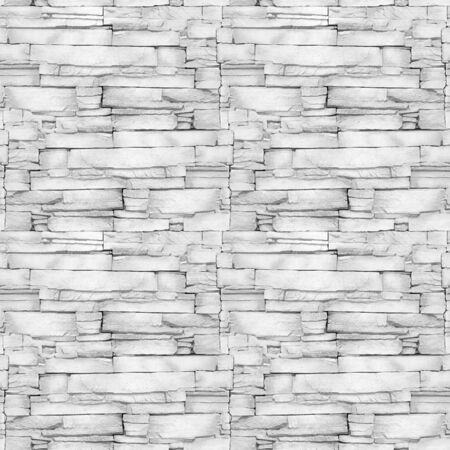 Wall of the white limestone - decorative pattern - aligned masonry - seamless background