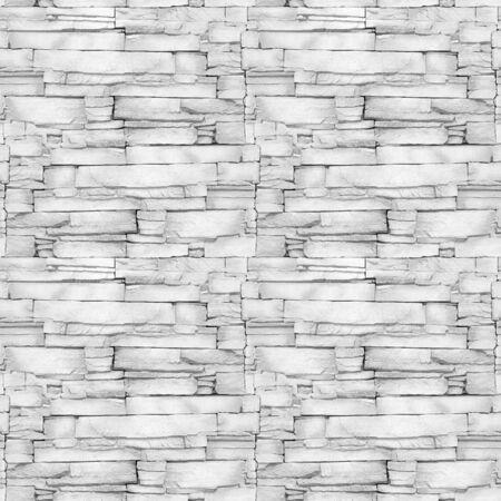 Wall of the white limestone - decorative pattern - aligned masonry - seamless background