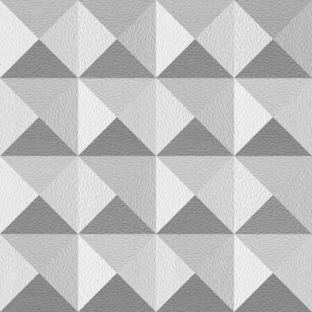 Pyramidal pattern stacked for seamless background - coffered paneling - white style Stock Photo