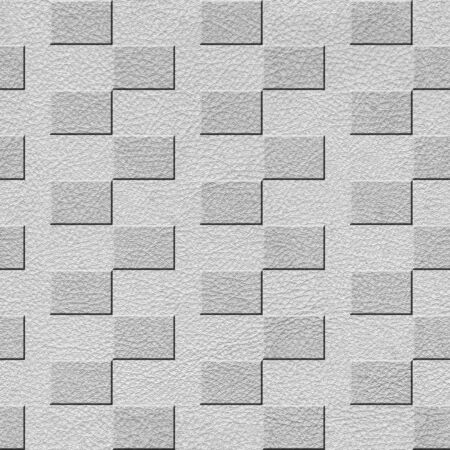 Clean white decorative wall - seamless background texture - repeating  zigzag geometric tiles Stock Photo