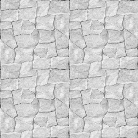 Decorative stone wall - Clean white masonry - seamless background - stone texture
