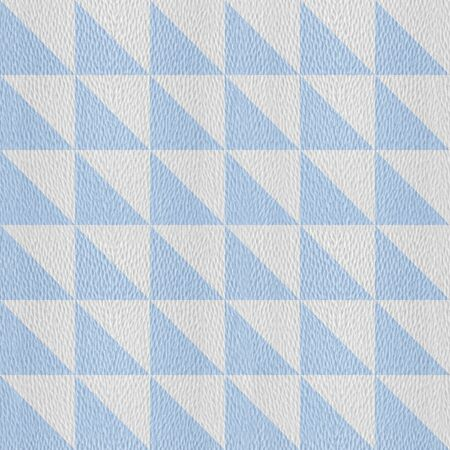 Decorative triangular pattern - Interior wall decoration - seamless background - white-blue coloring