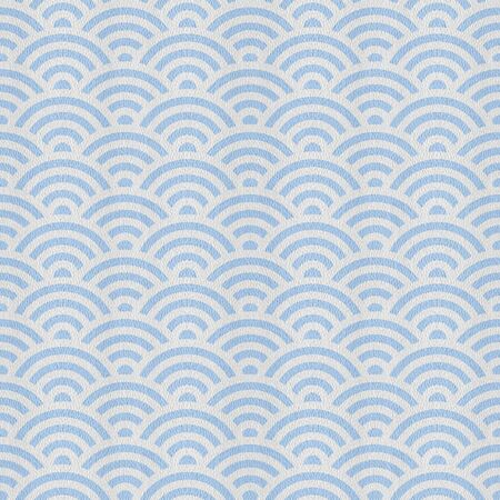 Wavy decorative style - Interior wall decoration - Abstract paneling pattern - seamless background - Mediterranean blue