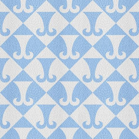 Hipster decorating style - Interior wall panel pattern - decorative tiles - geometric style - repeating texture - Mediterranean blue