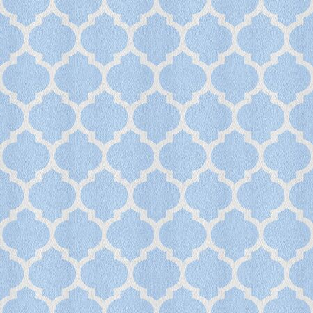 Oriental ornate style - decorative patterns - Interior wall decoration - seamless background - Mediterranean blue Stock Photo