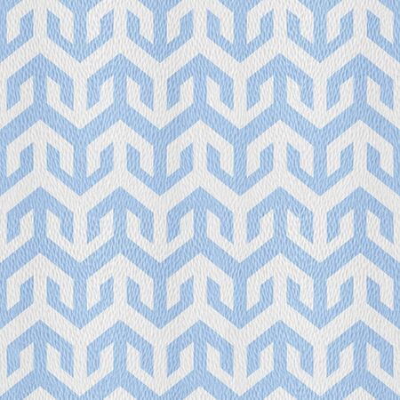 Decorative arrow pattern - Abstract paneling pattern - Interior wall decor - seamless background - Mediterranean blue Stock Photo