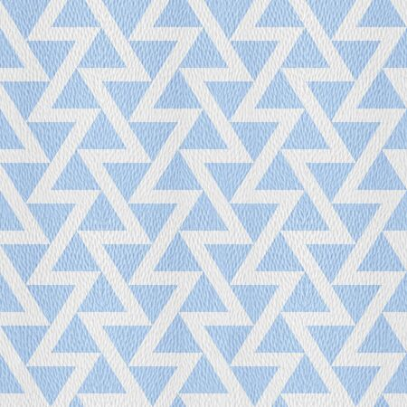 Triangular pattern - Abstract zigzag style -  - Interior wall decor - seamless background - granular white-blue surface Stock Photo