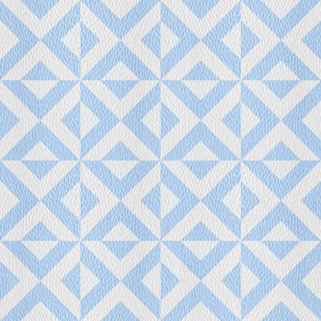 Abstract Triangular zigzag pattern - decorative tiles - Interior wall decor - seamless background - white-blue coloring Stock Photo