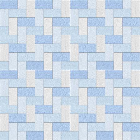 Stylish Herringbone pattern - decorative tiles - Interior wall decor - seamless background - Mediterranean blue Stockfoto