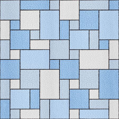 Decorative tiles - Abstract paneling pattern - Interior wall decoration - seamless background - repeating texture - granular white-blue surface