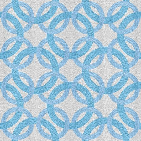 Intertwined decorative circles - seamless background - blue-white coloring