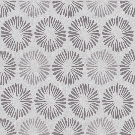 Decorative petals - Interior wallpaper - seamless background - white-gray coloration