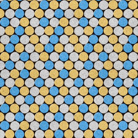 Decorative pattern of wine bottles corks - seamless background - Interior Design wallpaper - wall panel pattern - white-yellow-blue color